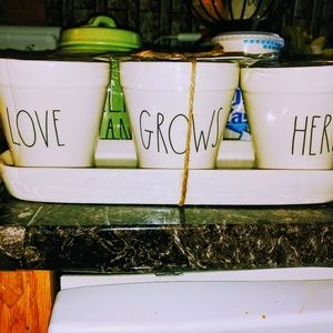 Rae Dunn Large Letter Set of 3 pots